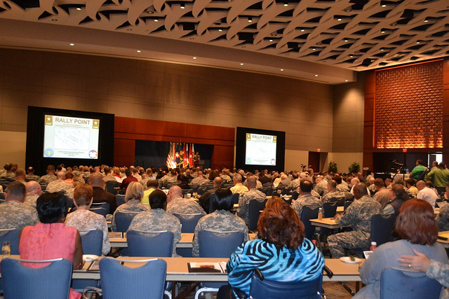 The morning assembly addressed by LTG Talley.