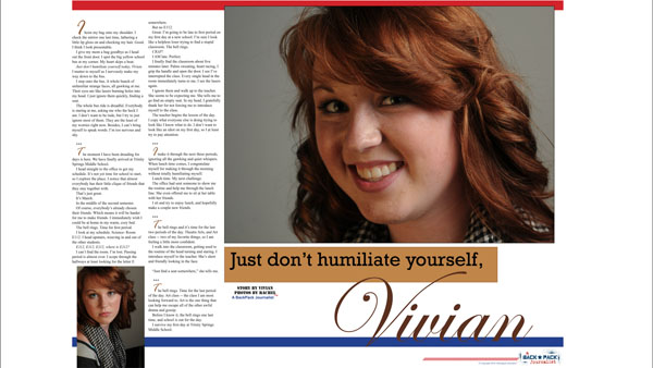 Just don't humiliate yourself, Vivian
