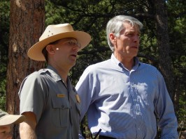 Udall with Ranger Jeff