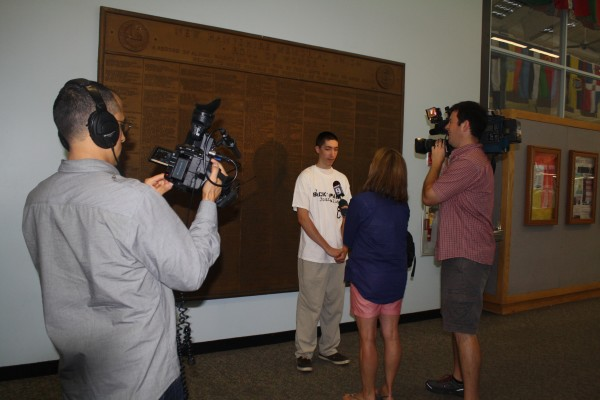 Phillip is interviewed by Channel 9!