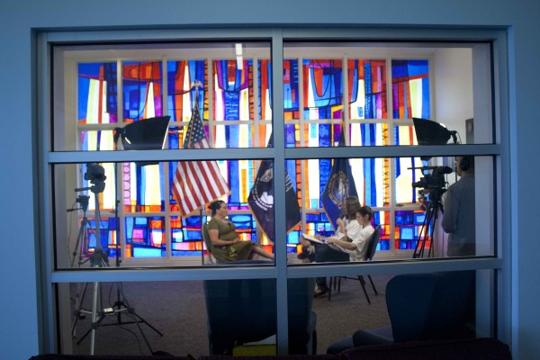 MUB- UNH - Veteran's Room - one of the interviews.