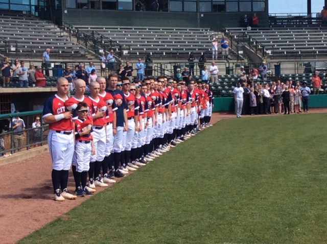 Today, we began – The History of Baseball:  Opening with our National Anthem!